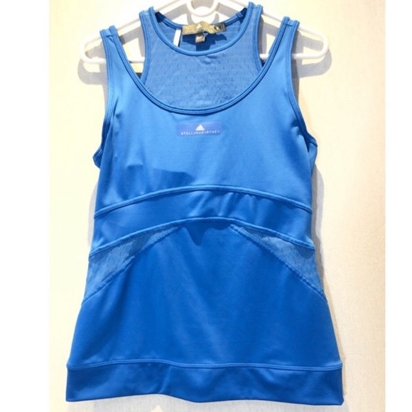 Adidas by Stella McCartney Tops - Adidas by Stella McCartney SZ M EUC blue tank